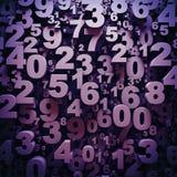 3d nummeriert Hintergrund Lizenzfreies Stockfoto