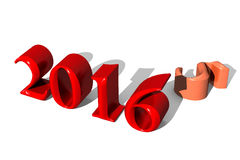 3d nuovo anno 2016 Fotografia Stock Libera da Diritti