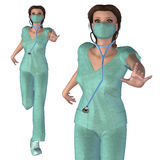 3d Nurse Royalty Free Stock Images