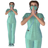 3d Nurse Royalty Free Stock Image