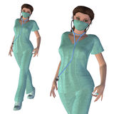 3d Nurse Royalty Free Stock Photography