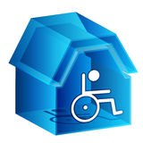 3d Nursing Home Icon. An image of a 3d nursing home icon Royalty Free Stock Image