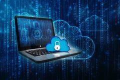 2d nuvem que computa, conceito de computação da rendição da nuvem Foto de Stock
