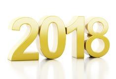 3d nytt år 2018 Royaltyfri Foto