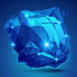 3d o objeto brilhante contemporâneo, ponto textured dimensional ilustração stock