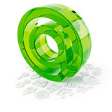 3D object from the glass on a white Royalty Free Stock Photo