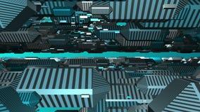3D objecten van een lus voorziende animatie abstracte achtergrond stock footage