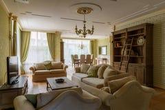 3 d obraz wewnętrzny salon Zdjęcie Royalty Free