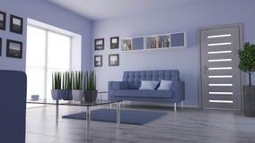 3 d obraz wewnętrzny salon Obrazy Stock