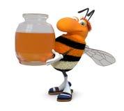3d obrazka bumblebee Fotografia Royalty Free