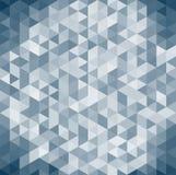 3D obscuridade geométrica abstrata - backgrou azul da opinião isométrica do triângulo Imagens de Stock Royalty Free