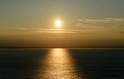 3 d ocean sprawia, że zachód słońca Obrazy Royalty Free