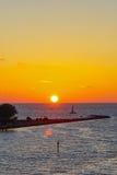 3 d ocean sprawia, że zachód słońca Zdjęcie Stock