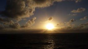 3 d ocean sprawia, że zachód słońca Obraz Stock