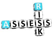 3D Oceniają ryzyka Crossword Zdjęcia Stock