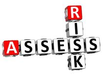 3D Oceniają ryzyka Crossword Zdjęcie Stock