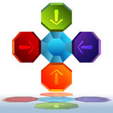 3d Octagon Chart. An image of a 3d octagon chart royalty free illustration