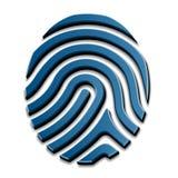 3D odcisku palca rysunkowy symbol ilustracji