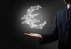 3d odizolowywająca euro waluty wysokość odpłaca się postanowienia symbolu biel Zdjęcie Royalty Free