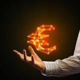 3d odizolowywająca euro waluty wysokość odpłaca się postanowienia symbolu biel Zdjęcia Stock
