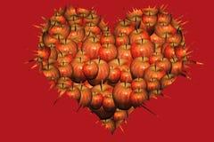 3d odizolowywający jabłka serce odpłaca się biel Obraz Stock