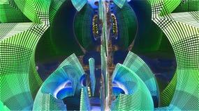 3D odpłaca się architekturę przyszłość ilustracja wektor