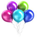 3d odpłaca się błyszczących ballons na białym tle Fotografia Royalty Free
