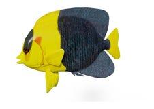 3D Odpłaca się Bicolor Angelfish na bielu Zdjęcia Royalty Free