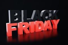 3D Odpłaca się Black Friday, sprzedaży wiadomość dla sklepu Biznesowy chmielenie sklepu sztandar dla Black Friday piątek czarny s Obrazy Stock