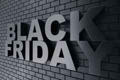3D Odpłaca się Black Friday, sprzedaży wiadomość dla sklepu Biznesowy chmielenie sklepu sztandar dla Black Friday piątek czarny s Zdjęcie Stock