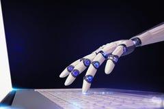 3D Odpłaca się futurystycznego robot i technologię Obrazy Stock