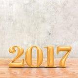 2017 3d odpłaca się nowego roku złocistego kolor w perspektywicznym izbowym dowcipie Fotografia Royalty Free