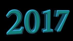 3D odpłaca się 2017 nowy rok wigilii ilustrację na czarnym tle ilustracji