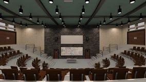 3D Odpłaca się Odczytowego Hall Ilustracji