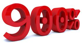 3d odpłaca się odsetek liczbę w czerwonym kolorze Zdjęcie Royalty Free