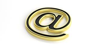3d odpłaca się złotego poczta symbol na białym tle ilustracji