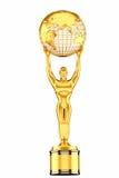 3d odpłacają się, Światowy kuli ziemskiej trofeum Fotografia Royalty Free
