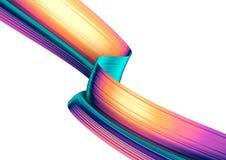 3D odpłacają się abstrakcjonistycznego tło Kolorowy styl przekręcający 90s kształty w ruchu Iryzuje cyfrową sztukę dla plakata, s ilustracji
