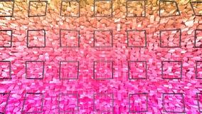 3d odpłacają się abstrakcjonistyczny geometryczny tło z nowożytnymi gradientowymi kolorami w niskim poli- stylu 3d powierzchnia z Ilustracja Wektor