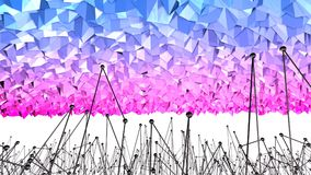3d odpłacają się abstrakcjonistyczny geometryczny tło z nowożytnymi gradientowymi kolorami w niskim poli- stylu 3d powierzchnia z Ilustracji