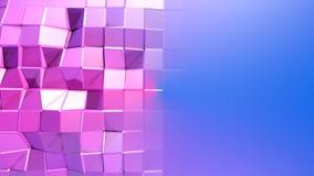 3d odpłacają się abstrakcjonistyczny geometryczny tło z nowożytnymi gradientowymi kolorami w niskim poli- stylu 3d powierzchnia z Zdjęcie Royalty Free