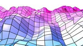 3d odpłacają się abstrakcjonistyczny geometryczny tło z nowożytnymi gradientowymi kolorami w niskim poli- stylu 3d powierzchnia z Zdjęcie Stock