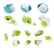 3D odpłacają się abstrakt 3D geometrical Fotografia Stock