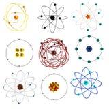 3d odpłacają się atomu set Zdjęcia Stock