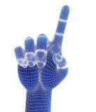 3d odpłacają się, błękitna ręka Fotografia Royalty Free