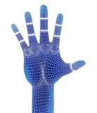 3d odpłacają się, błękitna ręka Obrazy Royalty Free