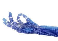 3d odpłacają się, błękitna ręka Obrazy Stock
