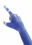 3d odpłacają się, błękitna ręka Obraz Stock