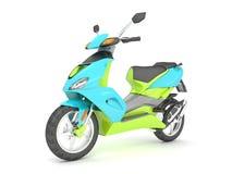3d odpłacają się błękitnej zieleni hulajnoga Obraz Stock