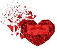 3d odpłacają się brokken czerwonego serce Zdjęcia Stock